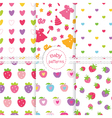 Set of baby patterns 2 vector image