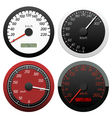 set of speedometer vector image