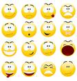Smiley faces vector image