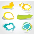 Speech cloud bubble Green background vector image
