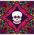 helloween pattern with skull vector image