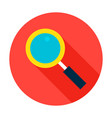 Search flat circle icon vector image