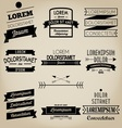 Vintage Ribbon Label vector image