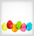 Easter colorful eggs with space for your text vector image