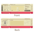 Boarding Pass Design Template vector image