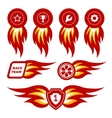 Flame emblems vector image