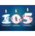 Birthday candle number 105 vector image