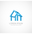 Abstract construction of house vector image vector image