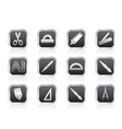 school and office tools icons vector image vector image