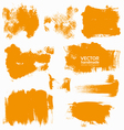 Abstract orange set backgrounds vector image