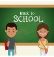 back to school multicultural students classroom vector image