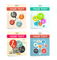 Brochure - Books - Flyers or Posters Covers Set vector image