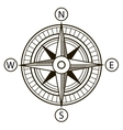 Compass or Wind Rose vector image