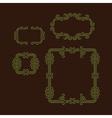 Flourishes Calligraphic Frame Retro Design vector image