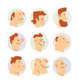 funny faces avatars comical vector image