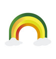isolated colored rainbow vector image
