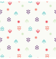 Positive Light Christmas seamless pattern vector image