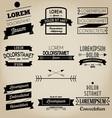 Vintage Ribbon Label vector image