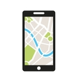 smartphone technology with gps app icon vector image