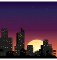 town in flat style design vector image