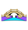 bridge icon cartoon vector image