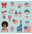 USA supporter stickers vector image