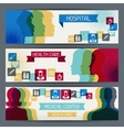 Medical and health care horizontal banners vector image vector image