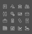 business and finance line Icons set vector image