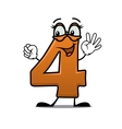 Excited happy number 4 vector image
