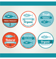 Set of seafood icons Retro labels stamps vector image