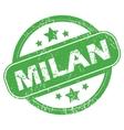 Milan green stamp vector image