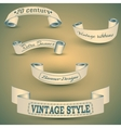 set of vintage bannerseps 10 vector image