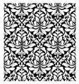 floral seamless damask pattern in white and black vector image vector image