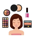 make-up artist design vector image