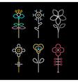 Neon Flowers vector image vector image