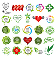 biggest collection of logos natural health vector image