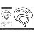 bike helmet line icon vector image