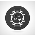 Black round icon for sports watch vector image