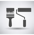 Construction paint brushes icon vector image