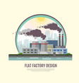 flat style modern design of industrial factory vector image