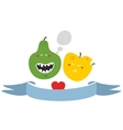 Freaky fruits and vegetables vector image