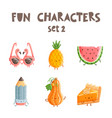 fun characters set 2 vector image