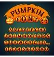 Halloween Pumpkin Font vector image