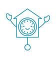 kawaii clock pendulum decoration office vector image