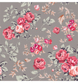 Rose Seamless Pattern Pink Brown vector image