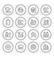 set round line icons of beer vector image
