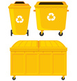 Trashcans in three different designs vector image