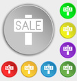 Sale price tag icon sign Symbol on eight flat vector image