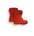 cartoon brown rubber boots isolated vector image