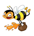 bee flying vector image vector image